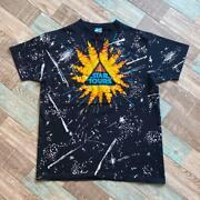 80s Vintage Made In Usa Disney Star Tours Total Pattern T-shirt / List No244