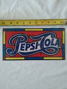 10 Onch Wide 5 Inch Tall Old Plastic Pepsi-cola Sign Used To Make Clocks 1970and039s