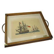 Abercrombie Fitch Tray Naval Boat Italy Mid-century Modern Travel Vintage Art