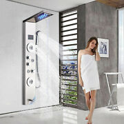 Stainless Steel Shower Panel Tower Massage Body Jet System Led Rainandwaterfall