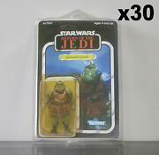 30 X Action Figure Case - New And Vintage Style Star Wars Or Gi Joe Carded Figures