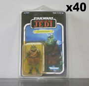 40 X Action Figure Case - New And Vintage Style Star Wars Or Gi Joe Carded Figures