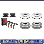 For 2000-2004 Xterra Brake Rotors And Metallic Pads + Brake Drums And Shoes