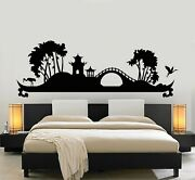 Vinyl Wall Decal Asian Nature Storks Bedroom Interior Stickers Mural G5089