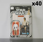 40 X Protective Figure Case For Star Wars 3 3/4 Inch Moc Action Figures