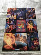 Vintage 1994 Marvel Masterpieces Uncut Sheet With 9 Cards