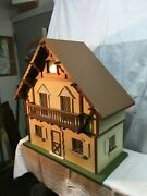 Large Wood German Cottage 6 Room Doll House 29inx 28in X 14in