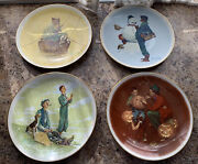 Norman Rockwell 1976 Gorham Collectible Plates Four Seasons Series 1969 Set