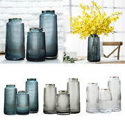Clear Glass Vase Tall Flower Display Table Decor Hydroponic Flower Vases
