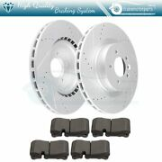 Drill Slot Front Ceramic Brake Pads And Rotors For Land Rover Range Rover Sport