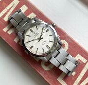 Vintage Tudor Oyster 60s Automatic Silver Rose Dial Steel Case Watch