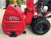 Honda Two Stage 24 Self Propelled Wheel Drive Snowblower Hs724wa Pre Owned