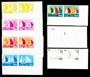 Niue 1980 30c Olympics Soling Class Sailing Yachting Progressive Proofs 14v