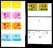 Niue 1980 35c Moscow Olympic Games Football Soccer Progressive Proofs 14v