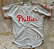Pat Burrell⚾️autograph Signed Game Worn Player Patch Stitch On Field Road Jersey