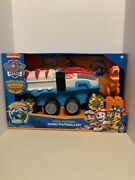 Paw Patrol Dino Rescue/patroller Motorized Team Vehicle Chase And T-rex Figures