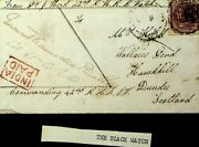 India 1866 Qv 8p Military Cover From The Black Watch Regiment To Scotland