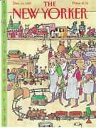 Cover Only The New Yorker Magazine December 14 1987 Steig Elves Toy Train