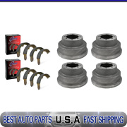 For 1967 Ford F-350 Front And Rear Brake Drums And Brake Shoes