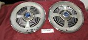 1965 Ford Fairlane Galaxie Hubcaps, 15 Wheel Cover H968 Pair Of 2