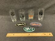 Dogfish Head 4 Different Glasses 3 Dogfish And 1 De Brewers 2 Stickers 1 Patch