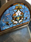 Sg3686 Antique Arch Stained Glass Window 37 X 57