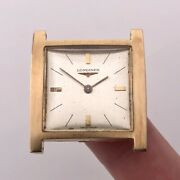 Longines Vintage Solid 18k Rose Gold 29mm Square Manual Watch Head Cal 428