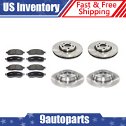 For 2012-2015 Range Rover Evoque Front + Rear Brake Rotors And Metallic Brake Pads
