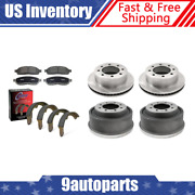 For 2000 Dodge Ram 2500 Brake Rotors And Ceramic Pads + Brake Drums And Shoes