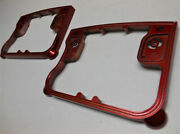 Harley And03992-99 Evo Big Twin Color-keyed Lazer Red Rocker Box Cover Spacers Laser