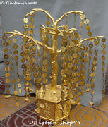 25 Huge China Pure Bronze Wealth Words Coins Yuanbao Trunk Money Tree Statue