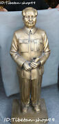 120cm Huge Rare China Pure Bronze Stand Mao Zedong Great Leader Chairman Statue