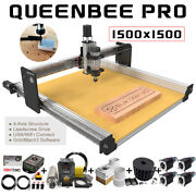 1515 Queenbee Pro Cnc Wood Router Machine Full Kit 4 Axis Linear Rail Upgrades