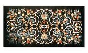 Black Marble Coffee Table Top With Ancient Craft Hallway Table Size 24 X 48 Inch