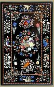 24 X 48 Inches Handmade Coffee Table Top Black Dining Table Heritage Work Inlaid