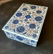 7 X 5 Inches Marble Box With Lapis Lazuli Stone Inlay Art Trinket Box For Home