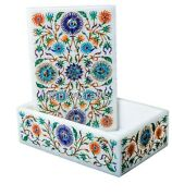 6 X 4 Inches Marble Decor Box With Pietra Dura Art Bangle Box For Christmas Gift