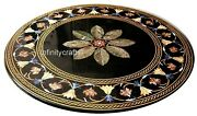 Floral Design Unique Sofa Table Top Round Shape Patio Dining Table 42 Inches