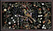 36 X 60 Inch Beautiful Design Inlaid Marble Coffee Table Top Black Office Table