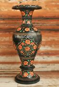 21 Inch Marble Flower Pot Carnelian Stone Inlay Work Planter For Christmas Gift