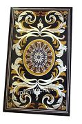 36 X 60 Inches Inlay Lawn Table Top Marble Dining Table With Pietra Dura Art