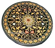 48 Inches Marble Lawn Table Top Round Patio Dining Table Cottage Work Inlaid