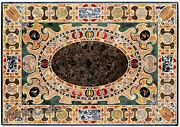 36 X 60 Inches Marble Lawn Table Top Black Exclusive Design Dining Table Top