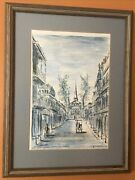 Vintage Print Franz Weiss St. Louis Cathedral Vieux Carre -19.5andrdquox 14 3/4andrdquo