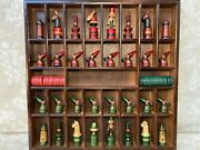 German Hand Carved Chess Set With Whimsical Figures Some Pawns Missing Pipes