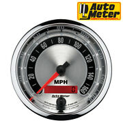Autometer 1288 American Muscle Speedometer Chrome Analog 3-3/8 Gauge 0-160 Mph