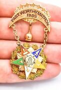 14k Gold 1905 Free Mason Past Worthy Matron Order Of The Eastern Star Pin Brooch
