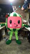 Oem Party Watermelon Fruit Cocomelon Mascot Costume Adult Fancy Cosplay