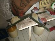 Antique Shadow Illinois River Decoy Hunting Boat Rig Primitive Painted Aafa