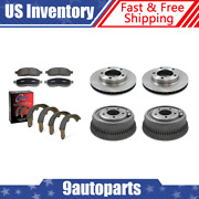 For 1985-93 Dodge Ramcharger Front Brake Rotors And Pads + Rear Drums And Shoes